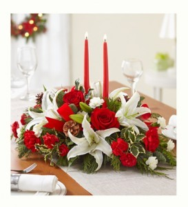Traditional Holiday Centerpiece  in Oakdale, NY   POSH FLORAL DESIGNS INC.