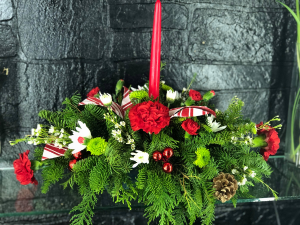 Traditional Holiday Centerpiece   in Piqua, OH   Allisten Manor's Flower Box