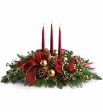 Traditional Holiday Centerpiece Christmas Centerpiece