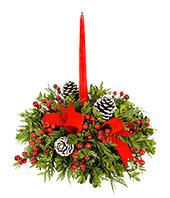 Traditional Round Centerpiece Christmas Fresh in Crossville, TN | Poppies Florist