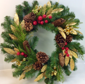 Traditional Touch Permanent Botanical Wreath