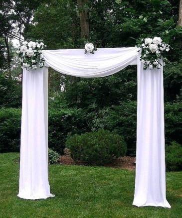 traditional wedding arch   rental fee undressed $175