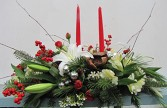 Traditional White Lily Centerpiece by Enchanted Florist of Cape Coral