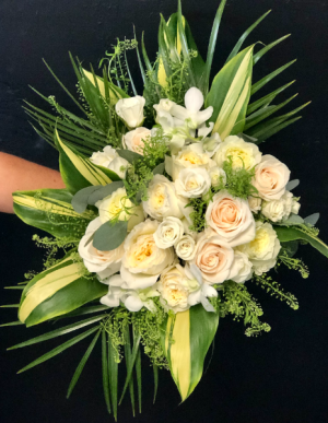 Traditional white with a Touch of Tropical Wedding Bouquet in Key West, FL | Petals & Vines