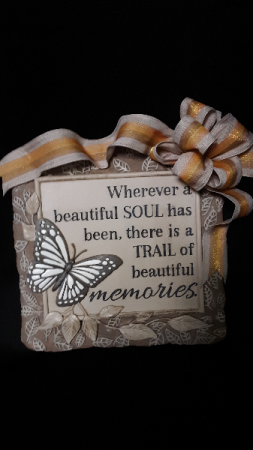 Trail of beautiful memories stepping stone