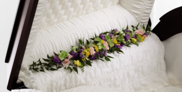 Trail Of Flowers Casket Adornment Casket  Adornment