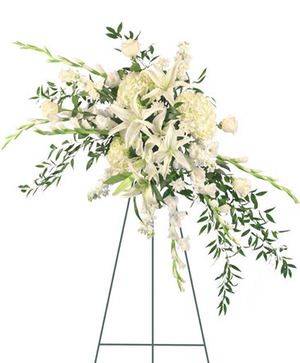 Tranquil Tears Standing Spray in Potomac, MD | Ariel Potomac Florist and Gift Baskets