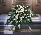 CT15-21 ALL WHITE CASKET SPRAY