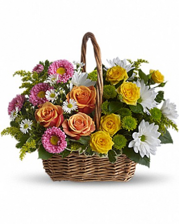 Tranquility Basket Flower Bouquet