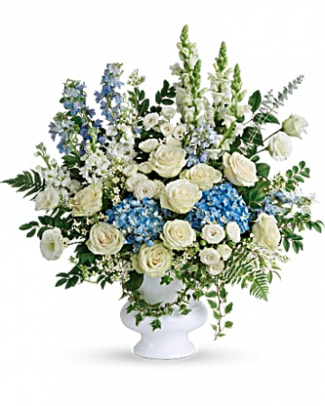 Treasured And Beloved Bouquet Sympathy Arrangement