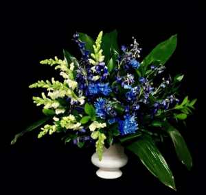 Treasured Blue and White Design in Plainview, TX | Kan Del's Floral, Candles & Gifts