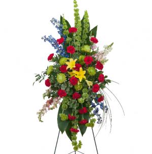 Treasured Celebration Standing Spray  in Prairie Grove, AR | FLOWERS-N-FRIENDS