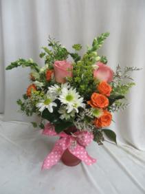 Treasured Love Fresh Mixed Vased Arrangement