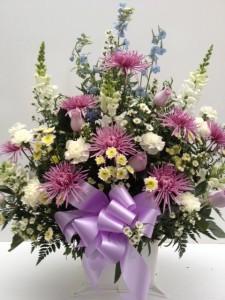 Treasured Memories Basket Arrangement Funeral Flowers