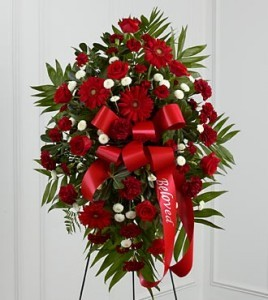 Treasured Memories Easle Spray Funeral Services Flowers