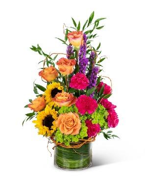 Treasured Memories Vase Sympathy in Nevada, IA | Flower Bed