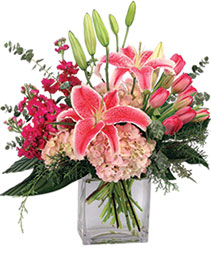 Treasured Pinks Floral Arrangement