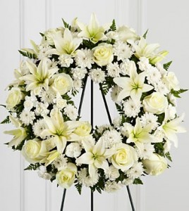 Treasured Tribute Standing Wreath in Richland, WA | ARLENE'S FLOWERS AND GIFTS