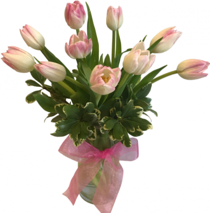 Timeless Tulips Vase Arrangement