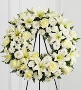 Treasured Wreath Spray Funeral Service Flowers