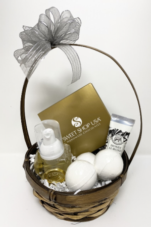 Treat Them!  Spa basket with gourmet Truffles