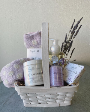Treat Your Mom Lavender Gift Basket in La Grande, OR | FITZGERALD FLOWERS