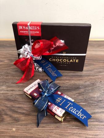 Treats for teacher Newfoundland chocolate
