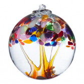 "TREE OF ADVENTURE 6"" HAND BLOWN GLASS BALL"