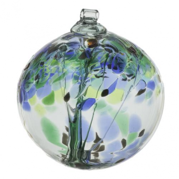 "TREE OF ENCOURAGEMENT 6"" HAND BLOWN GLASS BALL"