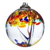 "TREE OF POSITIVITY 6"" HAND BLOWN GLASS BALL"