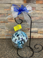 """TREE OF TRANQUILITY 6"""" HAND BLOWN GLASS BALL"""