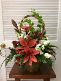 Trellis Flower Garden Funeral Flowers