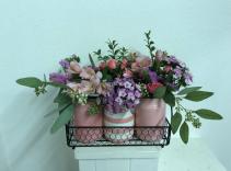 Tres Amore pink Vase arrangement
