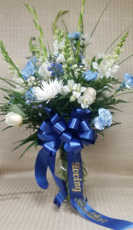 Tribute in Blue and White