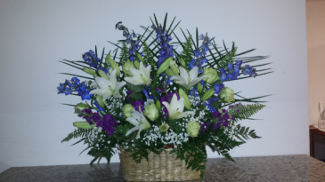 Tribute in Blue Basket