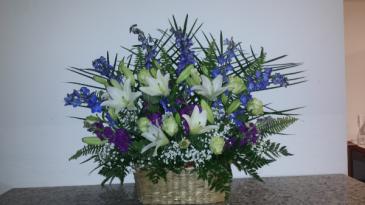 Tribute in Blue Basket
