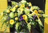 Tribute in Yellow Casket Spray