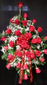 Tribute of Love easel arrangement