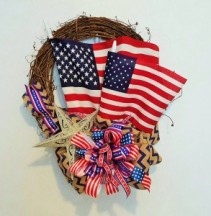 Tribute To Our Flag Artificial Wreath