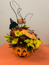 Trick or Treat Bouquet Halloween Fresh Arrangement