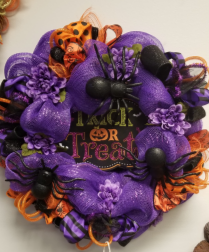 Trick or treat Wreath Fall Decor