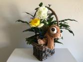 Trio Design in a Basket Sympathy Arrangement