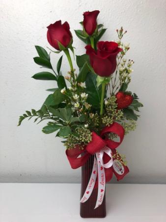 Trio of Love Vase Arrangement