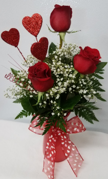 Trio of Love Roses in Vibe Colored Vase