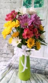 Trio Vase fresh flowers