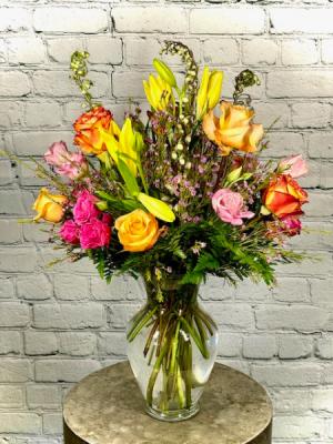 Trip to Bountiful Vase Arrangement in Summerville, SC | The Tilted Tulip