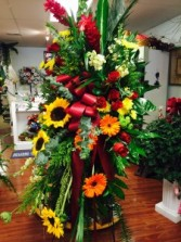 Tripical tribute funeral flowers