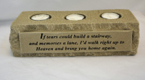 TRIPLE CANDLE STONE SYMPATHY CANDLE STONE