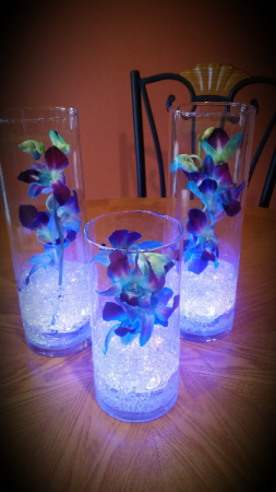 Triple Cyclinder Orchid Centerpiece