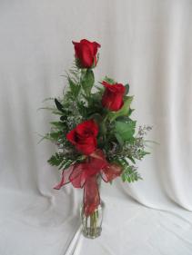 Triple Rose Budvase Fresh Rose Budvase